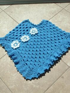 Blue Lagoon CROCHET PONCHO PATTERN via Etsy