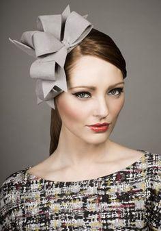 Rachel Trevor Morgan, A/W 2013 - Grey velour felt bows on Alice band.