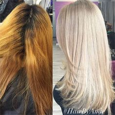 COLOR CORRECTION: Warm and Banded To Cool Blonde - Career - Modern Salon