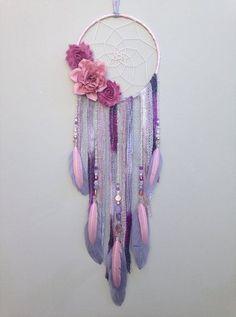 Lavender Boho Flower Dream Catcher