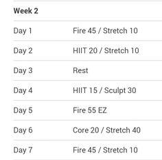 turbo fire schedule week 2 more turbo fire schedule turbofire piyo ...