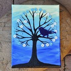 Strom - obraz na plátně. DĚLALA JSEM A JE TO PĚKNÉ