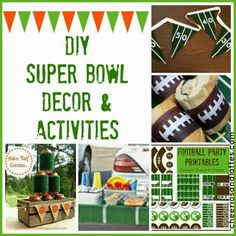 DIY Super Bowl Decor & Activities; perfect for kid-friendly parties