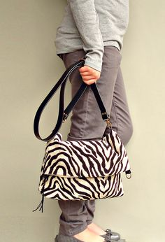 Tiger Foldover Purse  Converts to Tote  by MondayMorningStudios, $68.00