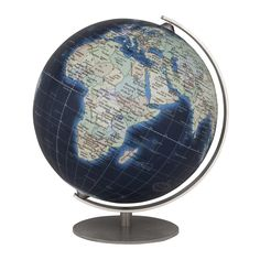 Columbus Mini Deep Blue Globe   4.7 Inch