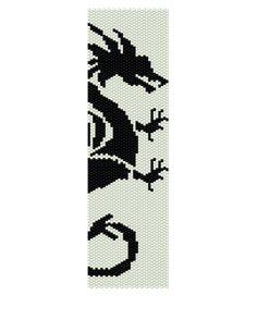 Peyote Bracelet Pattern  If There Be Dragons Buy 2 by KFSDesigns, $6.50
