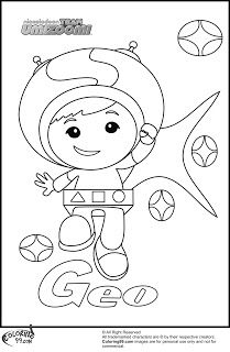 geo team umizoomi coloring pages - Team Umizoomi Coloring Pages