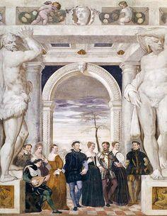 Giovanni Antonio Fasolo, Invitation to Dance, 1570, Villa Caldogno, nr Vicenza