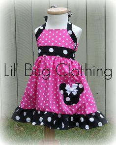 Custom Boutique Clothing Black White Hot Pink  by LilBugsClothing, $39.99