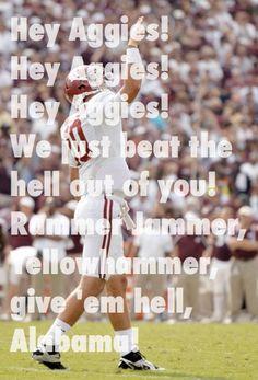 Alabama football vs aggies!  Roll tide roll!