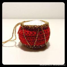 Juletrommer_3 Straw Bag, Cuff Bracelets, Christmas, Toys, Grammar, Threading, Navidad, Weihnachten, Christmas Music
