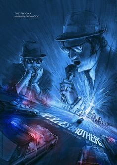 The Blues Brothers by Frederic Le Martelot - Home of the Alternative Movie Poster -AMP-