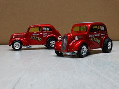 Wayne DelRio's 48 Anglia and one for brother Chris