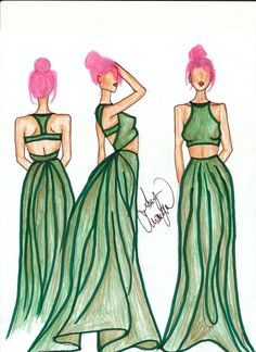 Fashion Illustration - The two piece one piece.