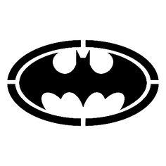 Batman symbol stencil template