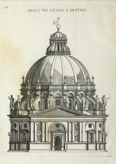 Elevation for a temple design, Italy