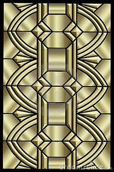 Metallic Art Deco Design Stock Images - Image: 8054444