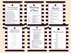 Kate Spade Bridal Shower Games.  I know she doesn't like games but it could be something we put on tables for guests to take up some dead time