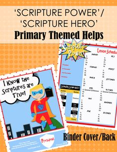 LDS Primary Super-Themed Printables 2016 by JaniJo on Etsy Primary Printable I Know the Scriptures are True