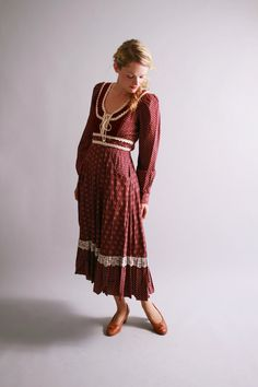 1970s dress / 70s gunne sax dress / fall + winter fashion / by coralvintage, $112.00