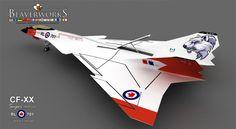 CF-XX Super Arrow Next Generation Stealth Interceptor concept aircraft.