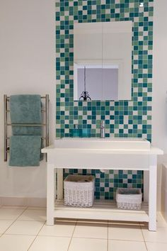 Photos by Grant Pitcher Bathroom Ideas, Vanity, Design Ideas, Photos, Laundry Rooms, Dressing Tables, Powder Room, Pictures, Vanity Set