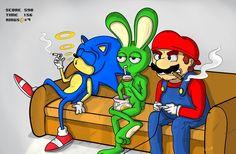 "BORED TIBBAR   Sonic, Tibbar and Mario in ""real life"""
