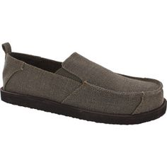 Men's Unconstructed Surfer Shoe $12.00 Mens Canvas Shoes, Walmart Shopping, Loafers, Slip On, Brown, Sneakers, Stuff To Buy, Products, Fashion