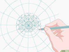 3 formas de dibujar mandalas - wikiHow Mandala Art Lesson, Mandala Drawing, Mandala Design, Dot Painting, Painting & Drawing, Doodle Art Designs, Indian Art Paintings, Mandala Rocks, Digital Painting Tutorials