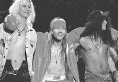 Guns N' Roses - Duff Mckagan, Axl Rose & Slash.