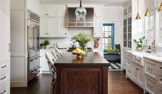 1920s english kitchen - Google Search Tudor Kitchen, New Kitchen, Kitchen Reno, Tudor Decor, Inside Kitchen Cabinets, English Tudor Homes, Cabinets To Ceiling, Tudor Style Homes, English Kitchens