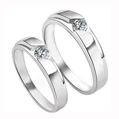 New Lovers`wedding Ring Couple Rings 925 Sterling Silver & Cz Zircon Female Jewelry Gift WR005