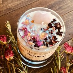 Aphrodite Goddess of Beauty Candle ~ Anita Apothecary, witchcraft candle, witch oil, greek goddess, - DIY Gifts Diy Candles Easy, Homemade Candles, Scented Candles, Diy Candles With Flowers, Diy Candle Ideas, Making Candles, Yankee Candles, Aromatherapy Candles, Velas Diy