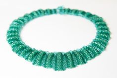 Teal green bridal necklace statement necklace wedding by Kamart, £45.00 Handmade jewellery