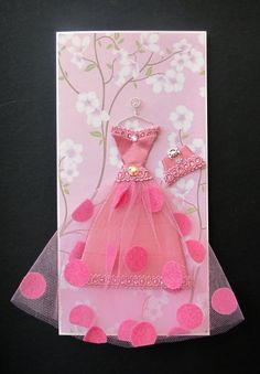 pink vintage greeting card