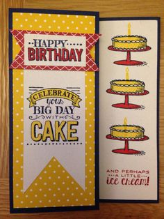 Big Day stamp set birthday card from Stampin' Up!