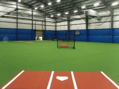 Amazing Indoor Baseball Facility by Kodiak Sports #batting cages #baseball #indoorturf #syntheticturf #brewers