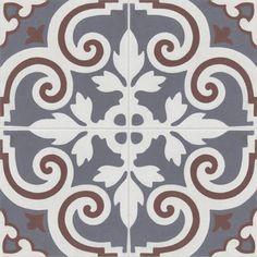 Collection StoneWash - décors 4 carreaux - Carreau VENDOME SW10.33.35 - Couleurs & Matières