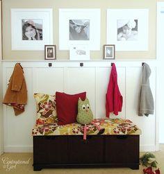 coat hooks-wall board.
