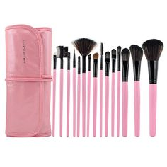 Professional Makeup Brush with Free Leather Pouch(15-Piece Pack) - Pink just $$ 17.99 + free shipping  www.caseswill.com/professional-makeup-brush-with-free-lea...     Free CoverGirl Eyeshadow http://CoverGirl.bestonlineproducts.net