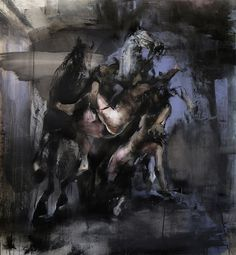 Zsolt Bodoni Rape 2011 Oil and acrylic on canvas 145 x 135 cm