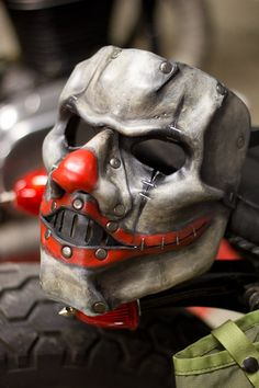 Clown Horror Handmade Leather Mask by OsborneArts on Etsy