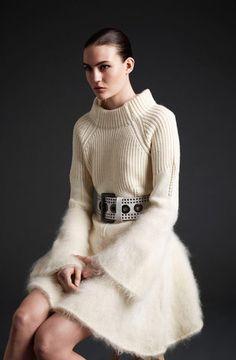 Наш ответ морозам: 6 правил, как носить вязаное платье | www.wmj.ru