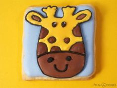 Baby Giraffe Cookies and Nails from http://polishcookies.blogspot.com/