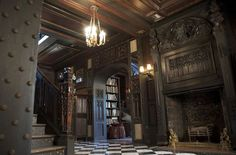 Old World interior mansion Victorian and Gothic interior style
