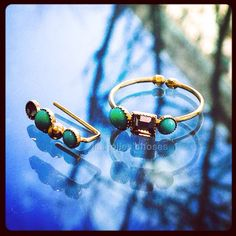 Turquoise earring and ring