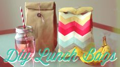 DIY Lunch Bag. This lunch bag is cheap and easy to make and is so cute because it is designed like the classic paper lunch bag! Video tutorial by TheSorryGirls! Check it out :)