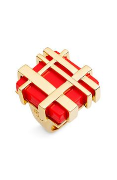 Tory Burch Gingham Cocktail Ring  $145.00