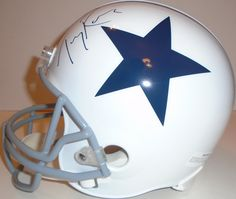 Tony Romo signed Dallas Cowboys Riddell full size football helmet w/ proof photo.  Proof photo of Tony signing will be included with your purchase along with a COA issued from Southwestconnection-Memorabilia, guaranteeing the item to pass authentication services from PSA/DNA or JSA. Free USPS shipping. www.AutographedwithProof.com is your one stop for autographed collectibles from Dallas sports teams. Check back with us often, as we are always obtaining new items.