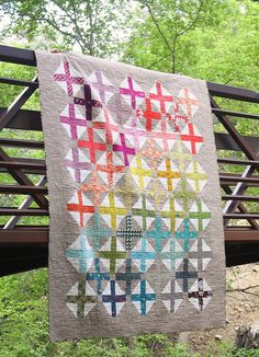 Spectrum Plus Modern Quilt - Diary of a Quilter - a quilt blog